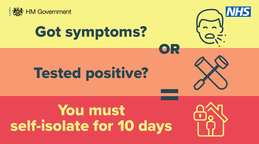 Got coronavirus symptoms? Tested positive for Coronavirus? You must self isolate for 10 days